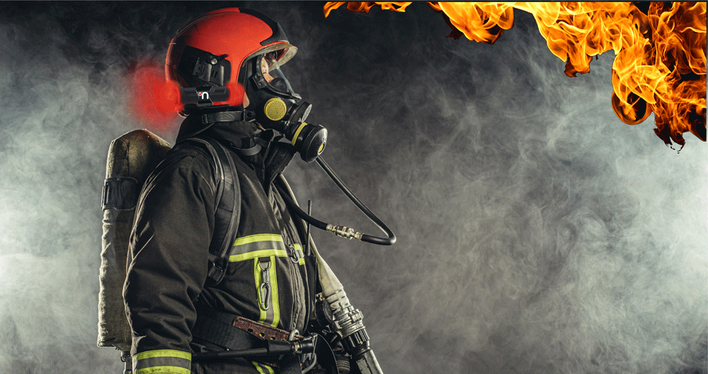 Nimbus AT100 monitors the ambient temperatures surrounding firefighters